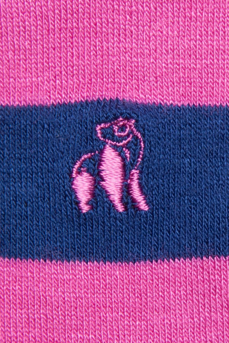 Swole Panda Socks Rich Pink Striped Bamboo Socks