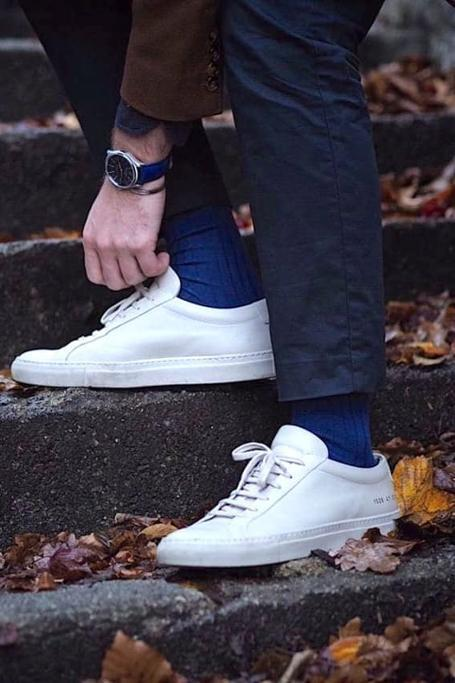 Royal Blue Bamboo Socks - Swole Panda