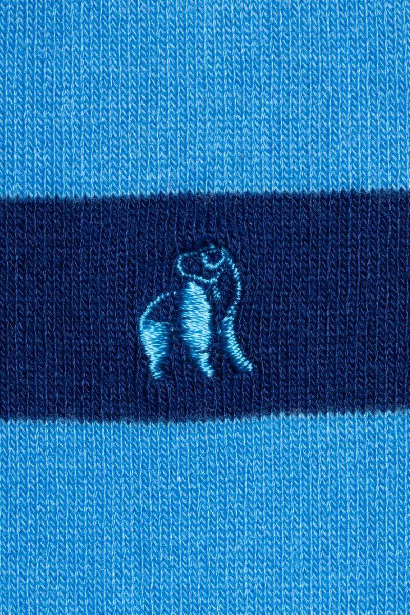 Swole Panda Socks UK 7-11 (US 8-12 / EU 40-47) Sky Blue Striped Bamboo Socks