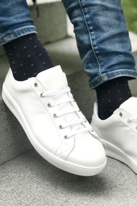 Socks - Spotted Pink Bamboo Socks