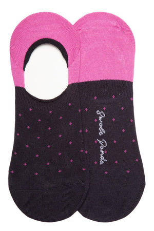 "Socks - Spotted Pink ""No-Show"" Bamboo Socks"