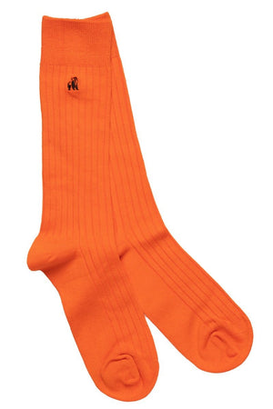 Swole Panda Socks UK 7-11 (US 8-12 / EU 40-47) Tangerine Orange Bamboo Socks