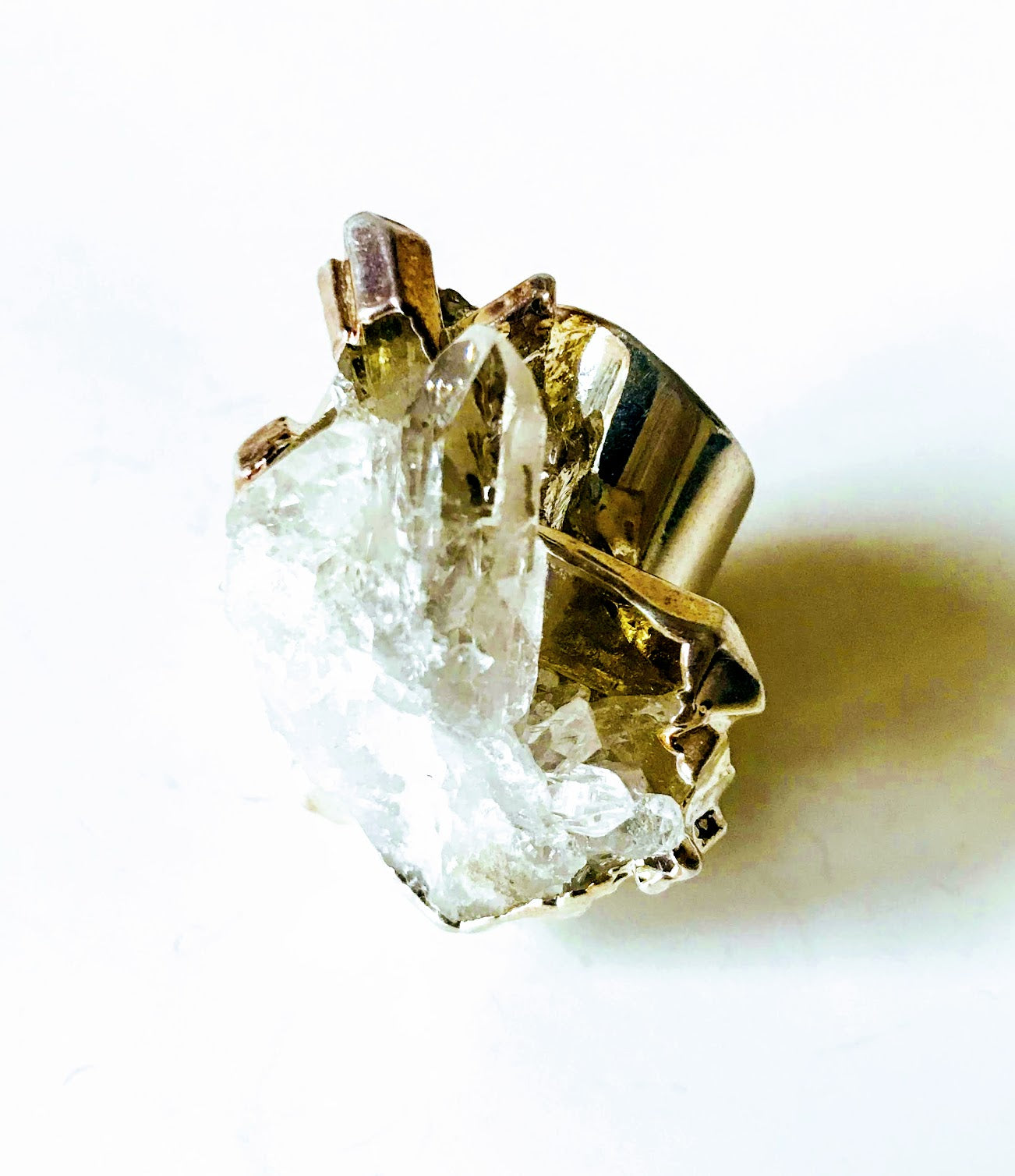 Supernova Quartz Cuff Ring