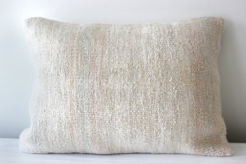 Hemp Pillow Vertical Faded Stripe