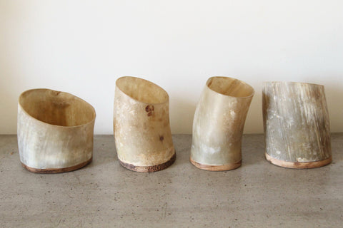 Buffalo Horn Containers