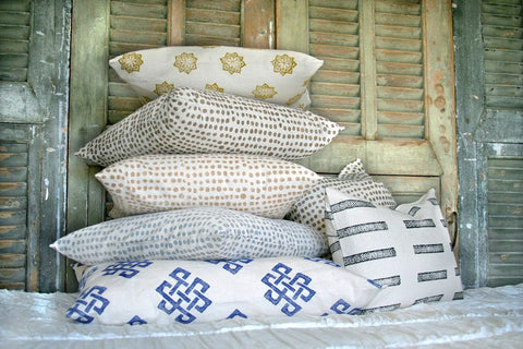 Metallic Dot Pillows