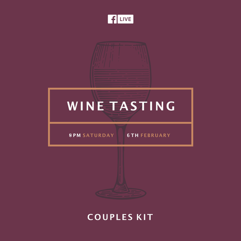 On-line Wine Tasting - 8pm, Saturday 6th February - Couples Kit