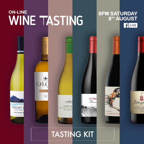 On-Line Wine Tasting - Saturday 8th August - Tasting Kit