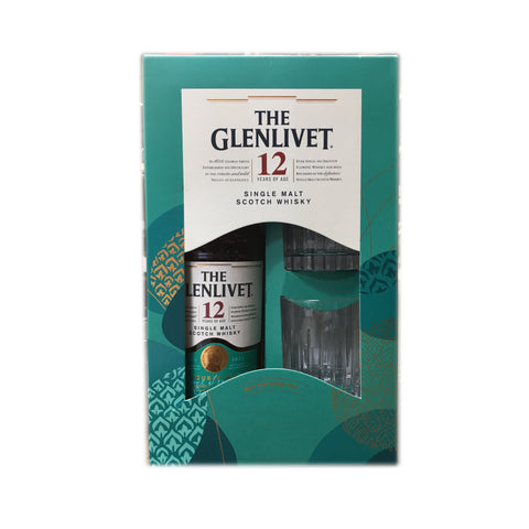 The Glenlivet 12 Year Old Malt Whisky + Glass Gift Set