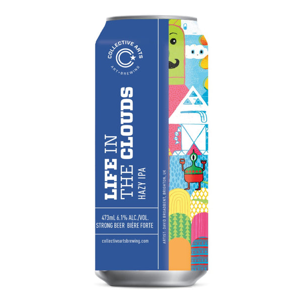 Collective Arts Life in the Clouds - Hazy IPA - 47.3cl Can (6.1% ABV)