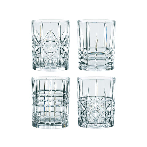 Nachtmann Highland Cut Glass Whisky Tumblers (Set of 4)