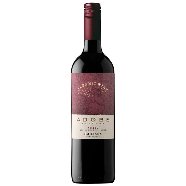 Adobe Reserva Malbec, Rapel Valley Organic (6 Bottle Case)