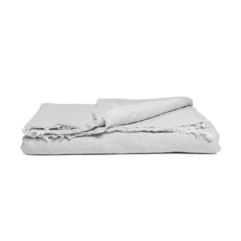 Linen Throw Misty Grey, By Mölle