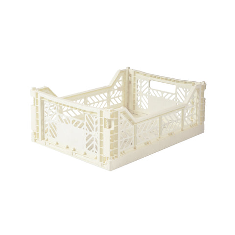 Folding Crate Midi Coconut Milk, Aykasa