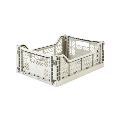 Folding Crate Midi Light Grey, Aykasa