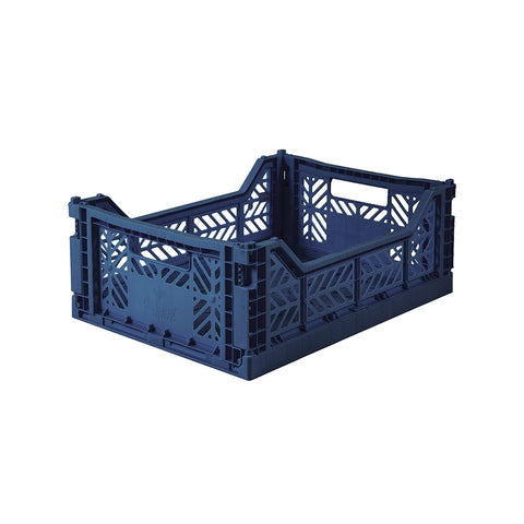 Folding Crate Midi Navy, Aykasa