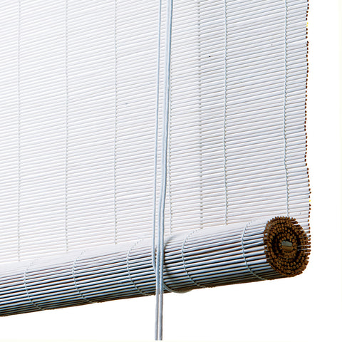 White Bamboo Roller Blinds, The Fine Store
