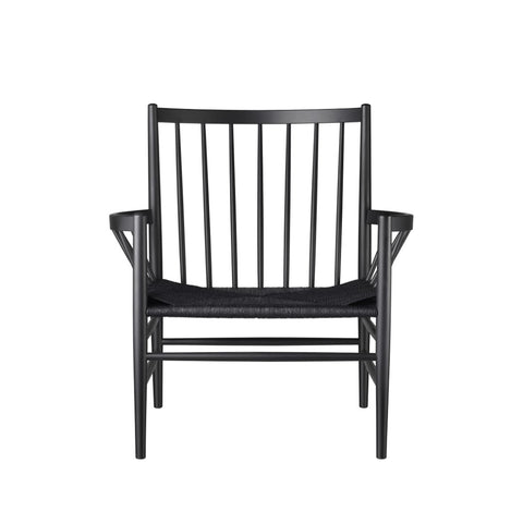 J82 Lounge Chair Full Black, FDB Møbler