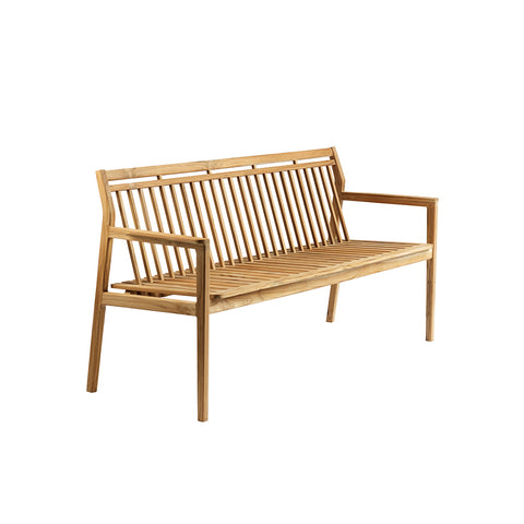 M11 Sammen Garden Bench With Backrest, FDB Møbler