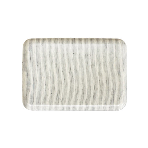 Linen Tray Grey Pinstripe Large, Fog Linen Work