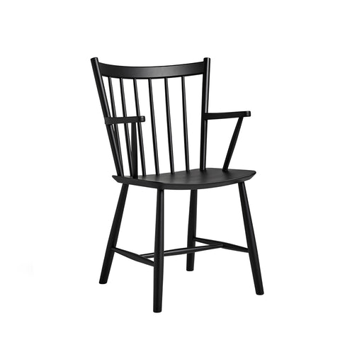 J42 Chair Black Lacquered Beech, HAY
