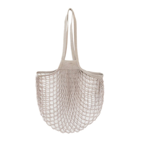 Net Bag With Long Handles Grey, The Fine Store