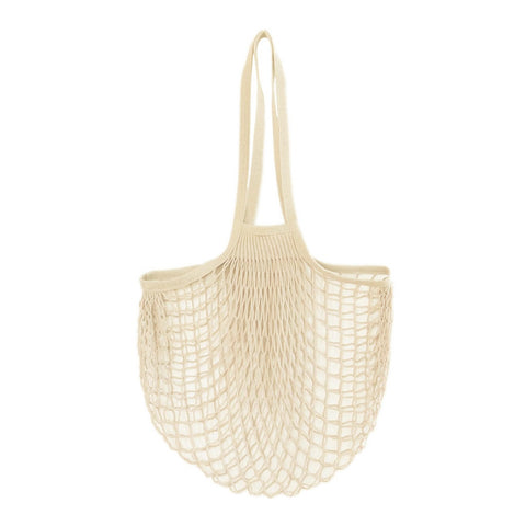 Net Bag With Long Handles Natural, The Fine Store