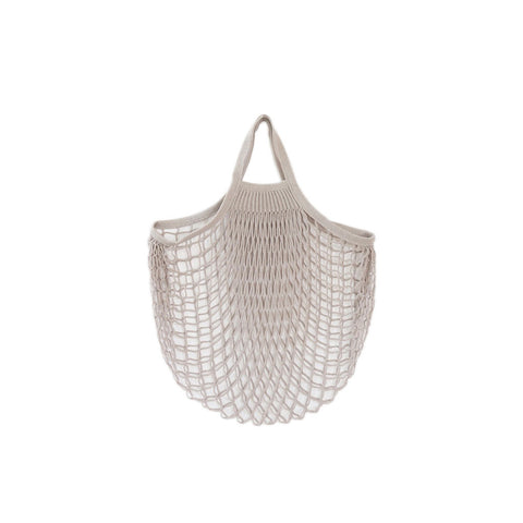 Net Bag With Short Handles Grey