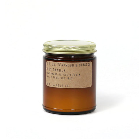 Teakwood & Tobacco Soy Candle, P.F. Candle Co.
