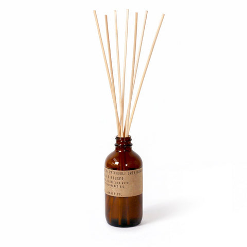 Patchouli Sweetgrass Reed Diffuser, P.F. Candle Co.