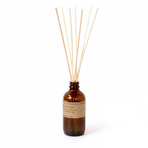 Teakwood & Tobacco Reed Diffuser, P.F. Candle Co.