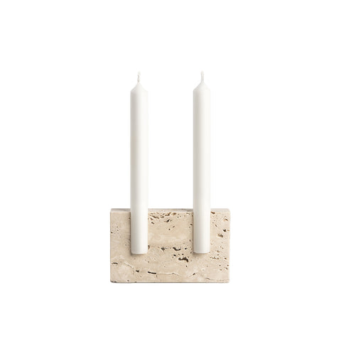 Snug Candleholder Travertine, Sanna Völker