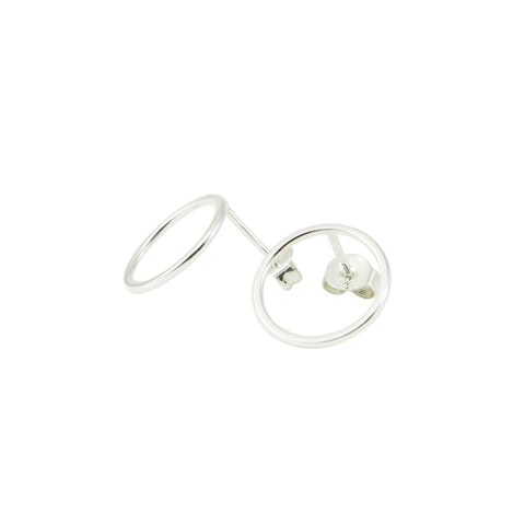 Circle Earrings Large Silver, Studio MHL