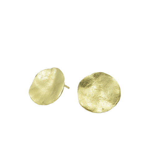 Clay Earrings Gold
