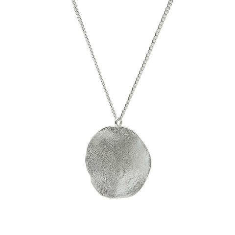 Clay Necklace Silver