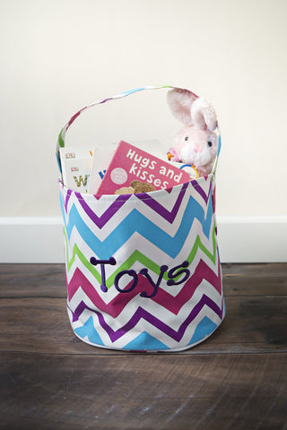 Girls Spring Chevron Bucket