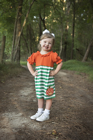 Short Sleeve Pumpkin Dress