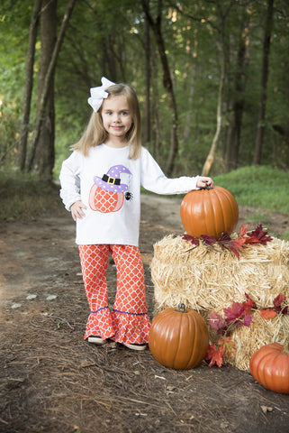 Witch Pumpkin Pant Set
