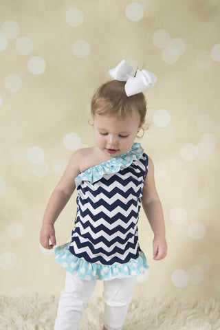 One Shoulder Chevron Tunic