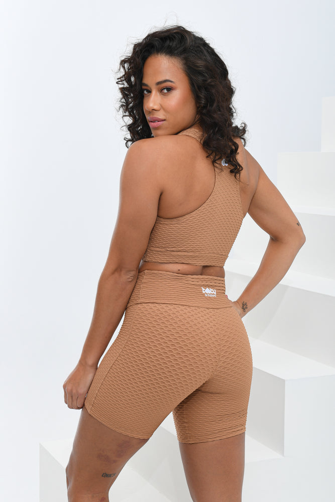 Croco Skin Top Caramel