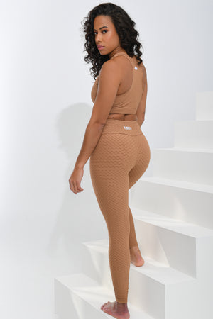 Croco Skin Leggings Caramel