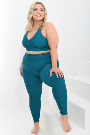 Load image into Gallery viewer, Croco Skin Curvy Top Turquoise