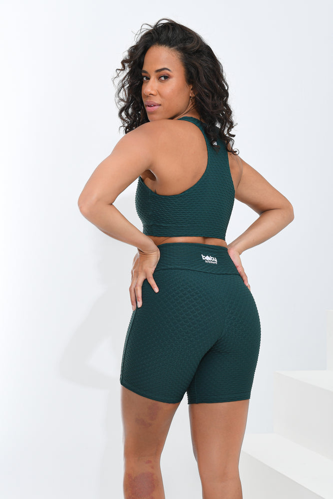 Croco Skin Shorts Emerald