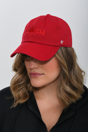 Load image into Gallery viewer, BBB x 47 Dad Hat Red