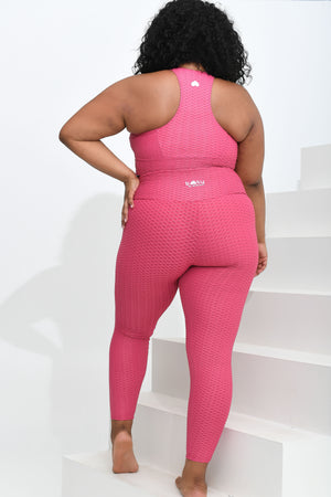 Load image into Gallery viewer, LBL Curvy Leggings Raspberry Lemonade