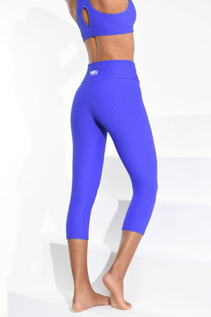 Cropped Croco Skin Blue Violet