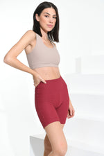 Croco Skin Shorts Crimson Red