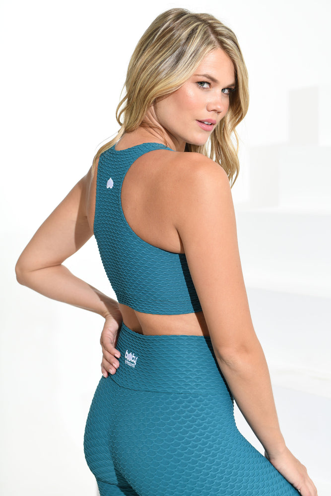 Load image into Gallery viewer, Croco Skin Top Turquoise