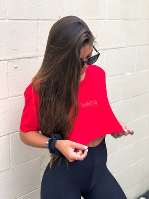 Ultra Cropped Tee Red