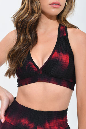 Tie Dye Top Red & Black